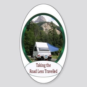 Camping Oval Sticker