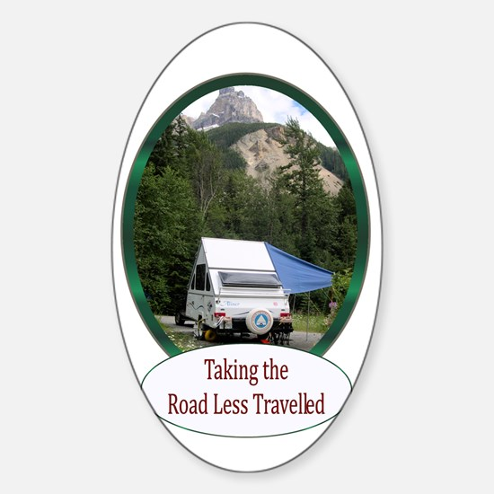 Camping Oval Decal