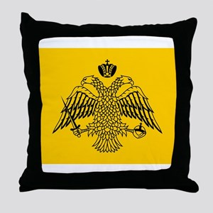 Greek Orthodox Church Flag Throw Pillow