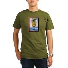 Smiling Pineapple Organic Men's T-Shirt (dark)