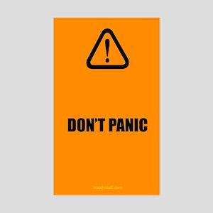 Don't Panic Rectangle Sticker