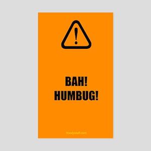 Bah! Humbug! Rectangle Sticker