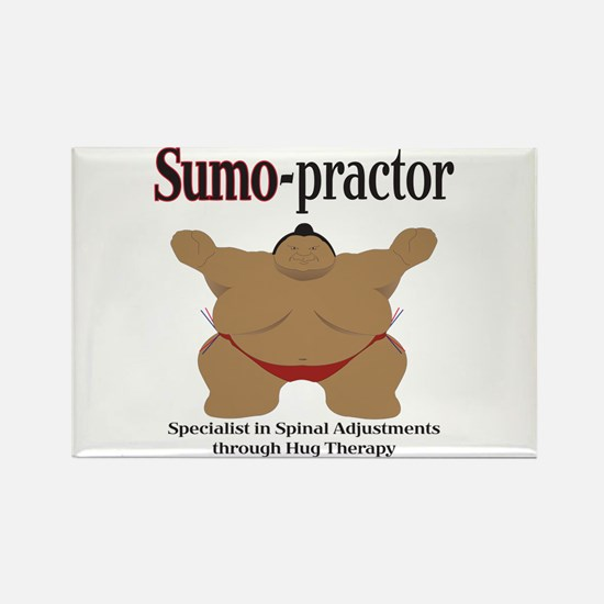 SUMO-practor Hug Therapy Rectangle Magnet
