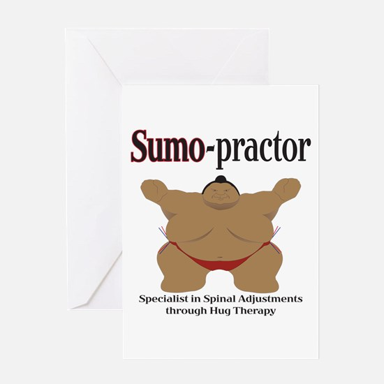 SUMO-practor Hug Therapy Greeting Card