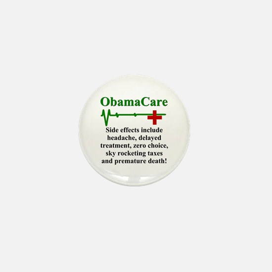 ObamaCare - Side Effects Mini Button (10 pack)