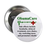 """ObamaCare - Side Effects 2.25"""" Button (10 pack)"""