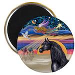 xmas Star / Arabian Horse (black) Magnet