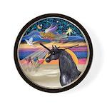 xmas Star / Arabian Horse (black) Wall Clock