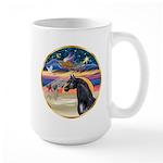 xmas Star / Arabian Horse (black) Large Mug