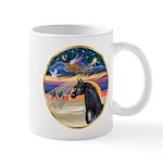 xmas Star / Arabian Horse (black) Mug