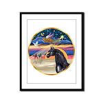 xmas Star / Arabian Horse (black) Framed Panel Pri