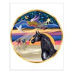 xmas Star / Arabian Horse (black) Small Poster