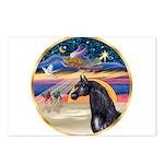 xmas Star / Arabian Horse (black) Postcards (Packa