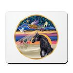 xmas Star / Arabian Horse (black) Mousepad