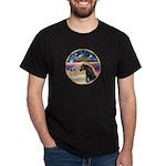 xmas Star / Arabian Horse (black) Dark T-Shirt