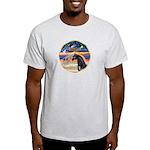 xmas Star / Arabian Horse (black) Light T-Shirt