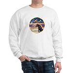 xmas Star / Arabian Horse (black) Sweatshirt