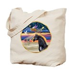 xmas Star / Arabian Horse (black) Tote Bag