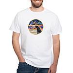 xmas Star / Arabian Horse (black) White T-Shirt