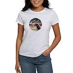 xmas Star / Arabian Horse (black) Women's T-Shirt