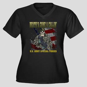Death - Spec Forces Women's Plus Size V-Neck Dark