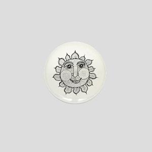 Mr Sunshine Smiley Mini Button