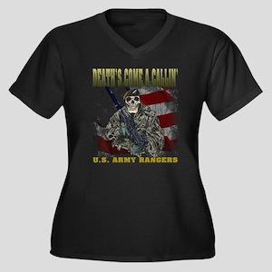 Death - Rangers Women's Plus Size V-Neck Dark T-Sh