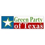 Texas Green Party Bumper Sticker