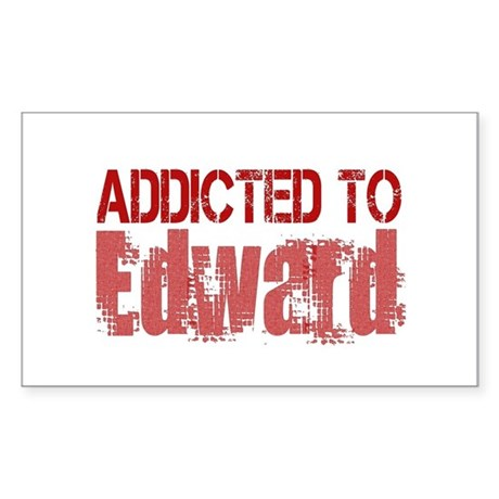 Addicted to Edward Rectangle Sticker
