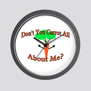 Don't You Carrot All Wall Clock