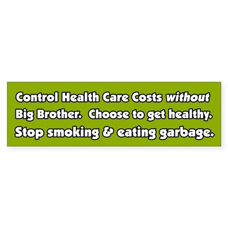 Big Brother Health Care Bumper Sticker