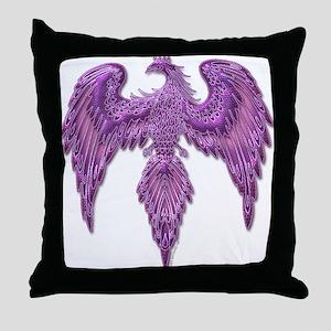 Purple Thunderbird Throw Pillow