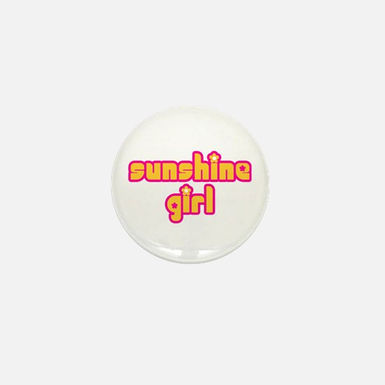 Sunshine Girl Mini Button