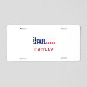 Vaughn Family Aluminum License Plate
