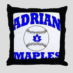 adrian maple baseball & softb Throw Pillow