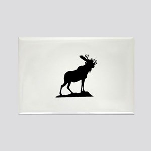 standing moose Rectangle Magnet