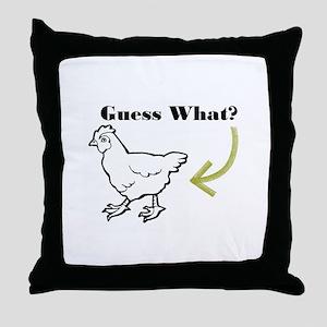 Chicken Butt Throw Pillow