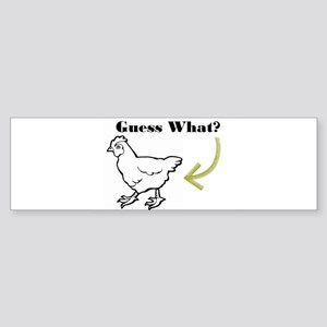 Chicken Butt Bumper Sticker