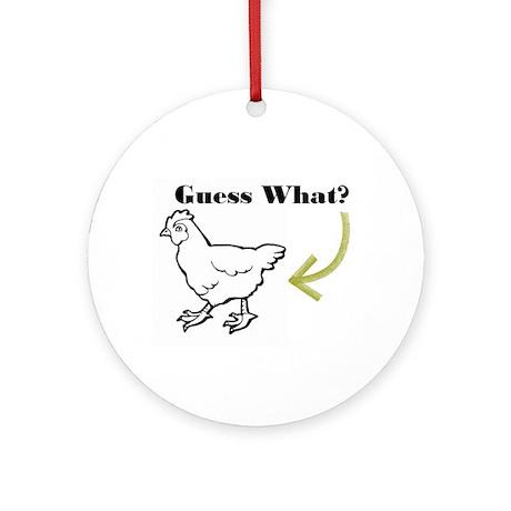 Chicken Butt Ornament (Round)