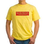 Ghandi quote 2- Sided Yellow T-Shirt