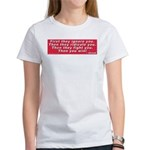 Ghandi quote Women's T-Shirt