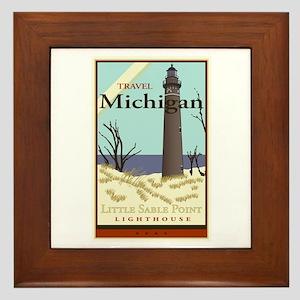 Travel Michigan Framed Tile