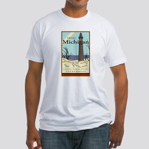Travel Michigan Fitted T-Shirt