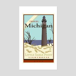 Travel Michigan Rectangle Sticker