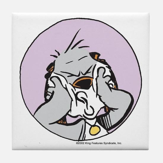 Buckles dog Tile Coaster
