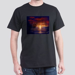 Autumn's Passing Black T-Shirt