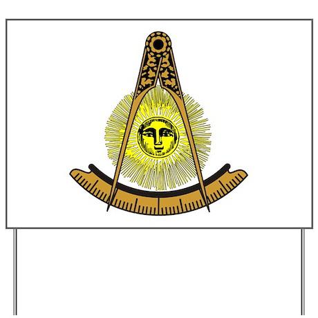 Freemason Past Master Yard Sign