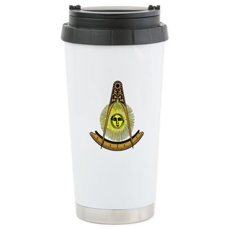 Freemason Past Master Stainless Steel Travel Mug