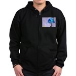 Syd and the Blueberry Tree Zip Hoodie (dark)