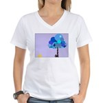 Syd and the Blueberry Tree Women's V-Neck T-Shirt